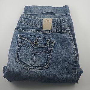 YMI Rolled Cuffs Blue Jean Shorts